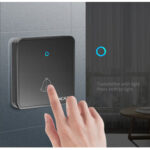 New              CACAZI H86 Wireless Doorbell Waterproof 300M Remote 1 2 Battery Button 1 2 3 Receiver Home Door Ring Bell Chime