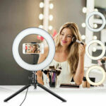New              Desktop LED Live Ring Light 10 inch Fill Light with Mini Tripod Stand USB Power Phone Holder for Youtube Tiktok Makeup Live Streaming