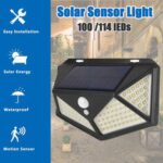 New              1PC/2PCS LED Solar Light 3 Modes Outdoor Waterproof Motion Sensor Wall Lamp for Garden Street