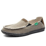 New              Men Comfy Canvas Non Slip Breathable Slip On Casual Shoes