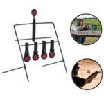 New              XMUND Metal Shooting Targets Stand Resetting Spinning AR500 Steel Targets Air Pellet Trap Airgun Shooting Hunting Tactical Practice Training Supply