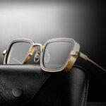 New              Men Retro Thick Edge Metal Frame Trend Sunglasses Driving Outdoor Sunglasses