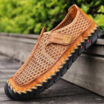 New              Men Outdoor Hand Stitching Quick-Drying Mesh Casual Water Shoes