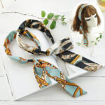 New              Bohemian Temperament Satin Streamer Headband Bow Tie Headband