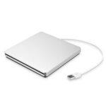 New              Portable USB 3.0 Silver External DVD-RW Max.24X High-speed Data Transmission for Win XP Win 7 Win 8 Win 10 Mac