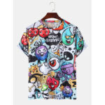 New              Cute Cartoon Print Casual Round Neck Short Sleeve T-Shirts