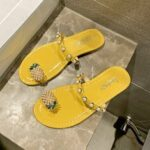 New              Women Clip Toe Ring Pineapple Decor Flats Sandals