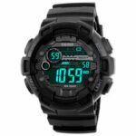 New              SKMEI 1243 Fashion Luminous Display Chrono Alarm Countdown Men Watch Dual Display Digital Watch