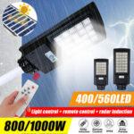 New              800W 1000W Solar Panel LED Street Light Waterproof PIR Motion Sensor Wall Yard Lamp + Remote Control