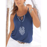 New              Floral Adjustable Neck Strap Halter Sleeveless Cami For Women