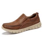 New              Menico Men Microfiber Leather Soft Sole Slip On Boat Shoes