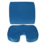 New              Memory Foam Home Car Seat Cushion Lumbar Back Support Orthoped  Office Chair Seat Pad Mat