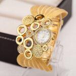New              Deffrun Retro Style Mesh Wristband Ladies Wrist Watch Fashionable Quartz Watch
