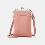 New              Women 9 Card Slots 6.3 Inch Phone Bag Solid Crossbody Bag Shoulder Bag