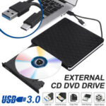 New              Slim External USB 3.0 DVD RW CD Writer Drive Burner Reader Player For Laptop PC*