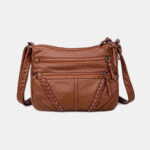 New              Women Multi-pocket Middle-aged Vintage Crossbody Bag Shoulder Bag