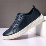 New              Menico Men Pure Color Microfiber Leather Non Slip Soft Sole Casual Sneakers