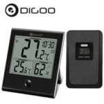 New              DIGOO DG-TH1180 Wireless Thermometer and Hygrometer LCD Display Built-in Calendar Alarm Clock Thermometer Hygrometer
