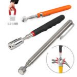 New              Mini Portable Magnetic Retractable Pickup Telescopic Powerful Iron Bar Magnetic Suction Rod with LED Light