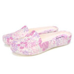 New              SOCOFY Lightweight Floral Slip-on Mules Slippers Waterproof Non-slip Working Nursing Shoes