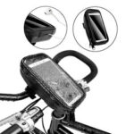 New              AFISHTOUR Bicycle Front GPS Phone Bags Case With Earphone/Charging Holes Waterproof MTB Bike Head Tube Handlebar Phone Holder