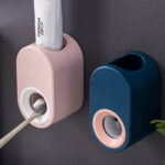New              Automatic Toothpaste Squeezer Free Punch Toothpaste Dispenser Wall Hanging Toothbrush Toothpaste Rack