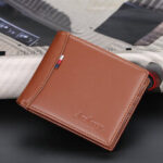New              PU Leather Thin Card License Holder Multi Card Slot Retro Business Leather Wallet For Men