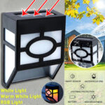 New              LED Solar Light Wall Mount Motion Sensor Staircase Lighting Outdoor Garden Waterproof Street Lamp
