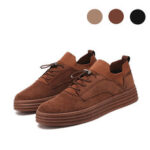 New              Men Fashion Casual Sneakers Flat Heel Leisure Walking Shoes Low Top Lace-Up Shoe