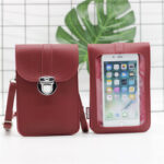 New              Women Casual Patchwork 6.3 inch Touch Screen Phone Bag Crossbody Bag