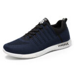 New              Men Sports Knitted Fabric Breathable Casual Running Sneakers