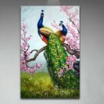 New              DIY Oil Painting Peacock DIY Painting By Numbers Handpainted Painting Living Room Home Office Wall Decor Artwork