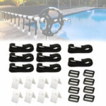 New              Universal Swimming Pool Cover Reel Roller Strapping Kit Attachment Solar Blanket Straps Equipment for Pool Solar Cover Reel Accessory
