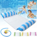 New              Inflatable Swimming Floating Chair Foldable Sleeping Lounger Summer Air Hammock Sun Lounges