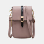 "New              Women Casual Patchwork 6.3"" inch Phone Bag Crossbody Bag"