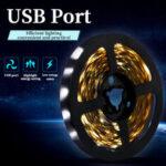 New              0.5m/1m/2m/3m USB LED Lamp 2835 SMD Light Bar Hotel TV Backlight String Light Waterproof