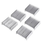 New              5pcs Transistor Radiator Power Amplifier Chip Heat Sink Thyristor Aluminum Heat Sink 47*16.5*40MM