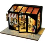 New              TIANYU DIY Doll House TD37 Hair Salon Creative Modern Shop Handmade Doll House With Furniture