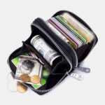 New              Women 10 Card Slots Rfid Genuine Leather Short Zipper Coin Purse Wallet