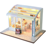 New              TIANYU DIY Doll House TD36 Manicure Store Creative Modern Shop Handmade Doll House With Furniture