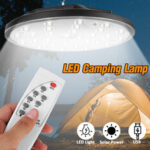 New              LED Solar Camping Tent Light Garden Hooking Floodlight Outdoor Lamp With Remote Control