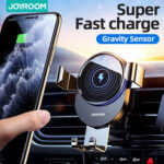 New              Joyroom Car Phone Holder Wireless Charger 15W Qi Wireless Charger Car Mount Intelligent Infrared for Air Vent Mount / Dashboard Mobile Navigation Bracket For iPhone for Samsung Huawei Xiaomi Stand