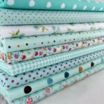 New              9Pcs DIY Bundles Fabric Fat Quarters Cotton Florals Gingham Craft Quilt Sewing
