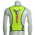 New              BIKIGHT Elastic LED Cycling Vest Adjustable Visibility Reflective Vest Night Sports Reflective Belt For Safety Riding Adult