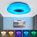New              36/40cm 120W Music Ceiling Light with Bluetooth Speaker Smart APP and Remote Control