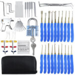 New              56Pcs Training Unlock Tool Skill Set 30Pcs Unlocking Lock Pick Set Key Extrator