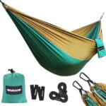 New              SGODDE 270X140CM Ultra-Light Camping Hammock Breathable 300KG Load Capacity Quick-drying Hanging Swing Nylon Parachute For Outdoor Indoor Travel Camping Garden Backyard
