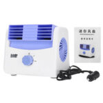 New              5/12/24V Mini Cooling Fan 2 Gears Portable Air Conditioner Cooler Car Auto Truck Vehicle