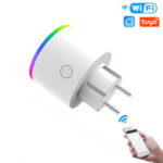 New              MoesHouse WiFi Smart Plug Wireless RGB Power Socket Smart Life/Tuya App Wireless Remote Control Work with Alexa Google Home