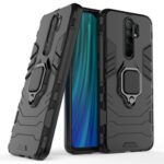New              Bakeey Armor Shockproof Magnetic with 360 Rotation Finger Ring Holder Stand PC Protective Case for Xiaomi Redmi 9